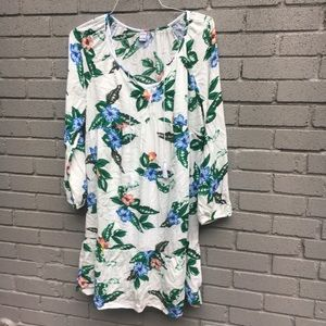 Old Navy tropical shift dress small